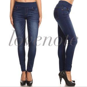1 S left! High Waisted Denim Leggings Skinny Jeans